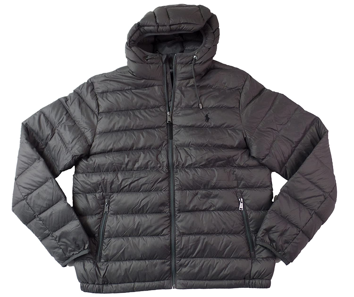 56ab1e63424 Amazon.com  Polo Ralph Lauren Mens Full Zip Hooded Puffer Jacket  Clothing