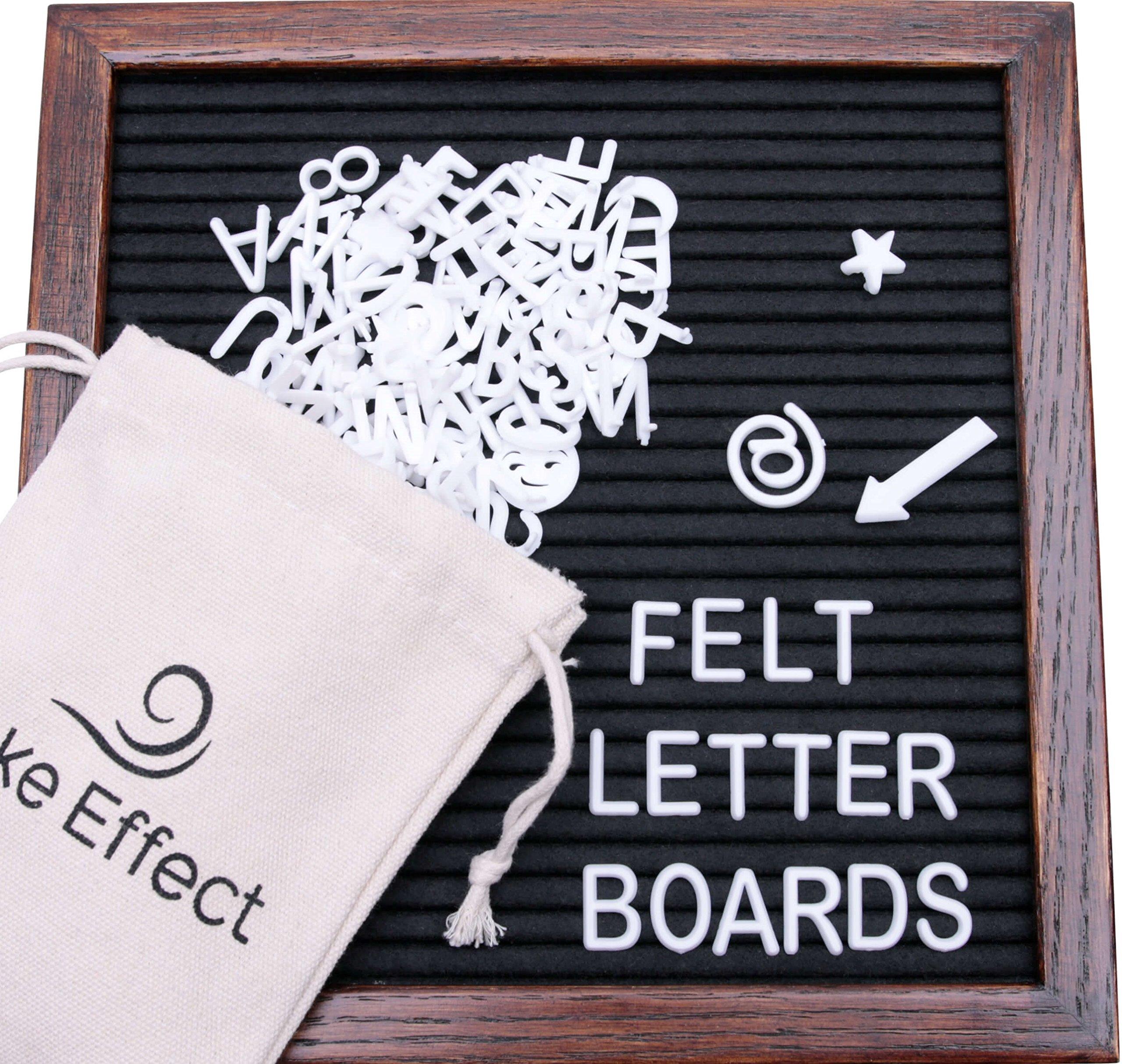 Letter Board Premium Felt 10x10 Wooden - 346 White/Glow in the Dark ...