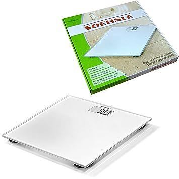 Báscula digital de cristal modelo blanco Soehnle Pino White caudal de 180 kg: Amazon.es: Electrónica
