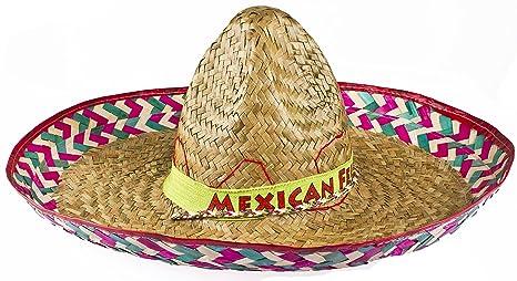 ILOVEFANCYDRESS 12 x Cappello Messicano Paglia Sombrero Grande Ideale  Travestimento 80a565b18251