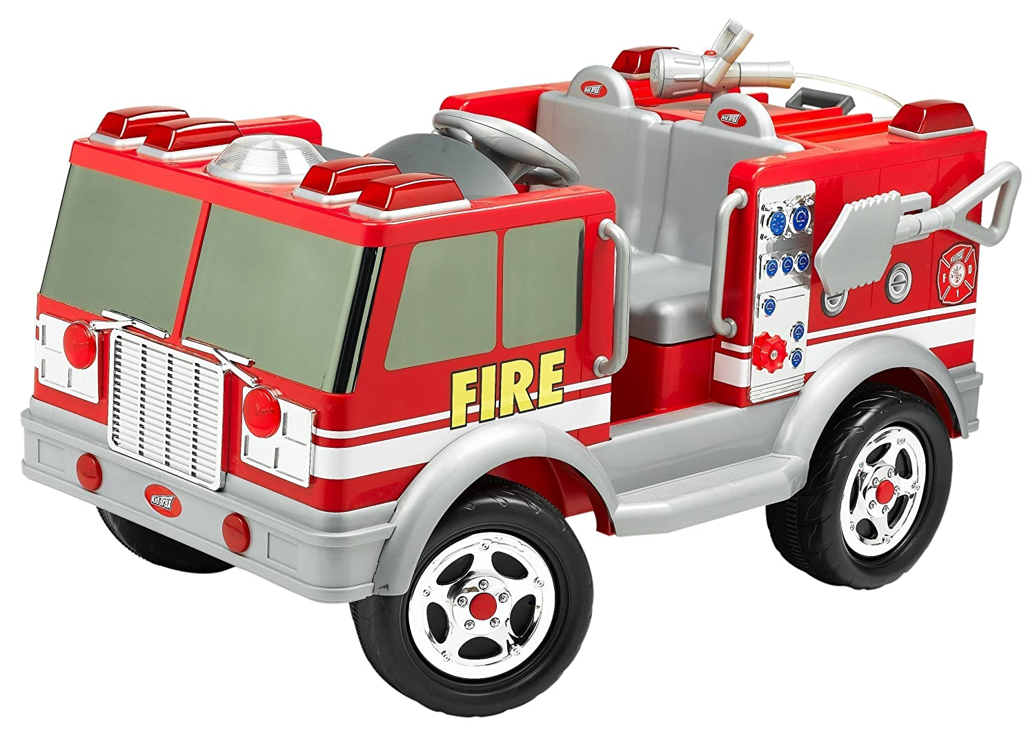 Amazon.com: Kid Trax Red Fire Engine Electric Ride-On: Toys & Games