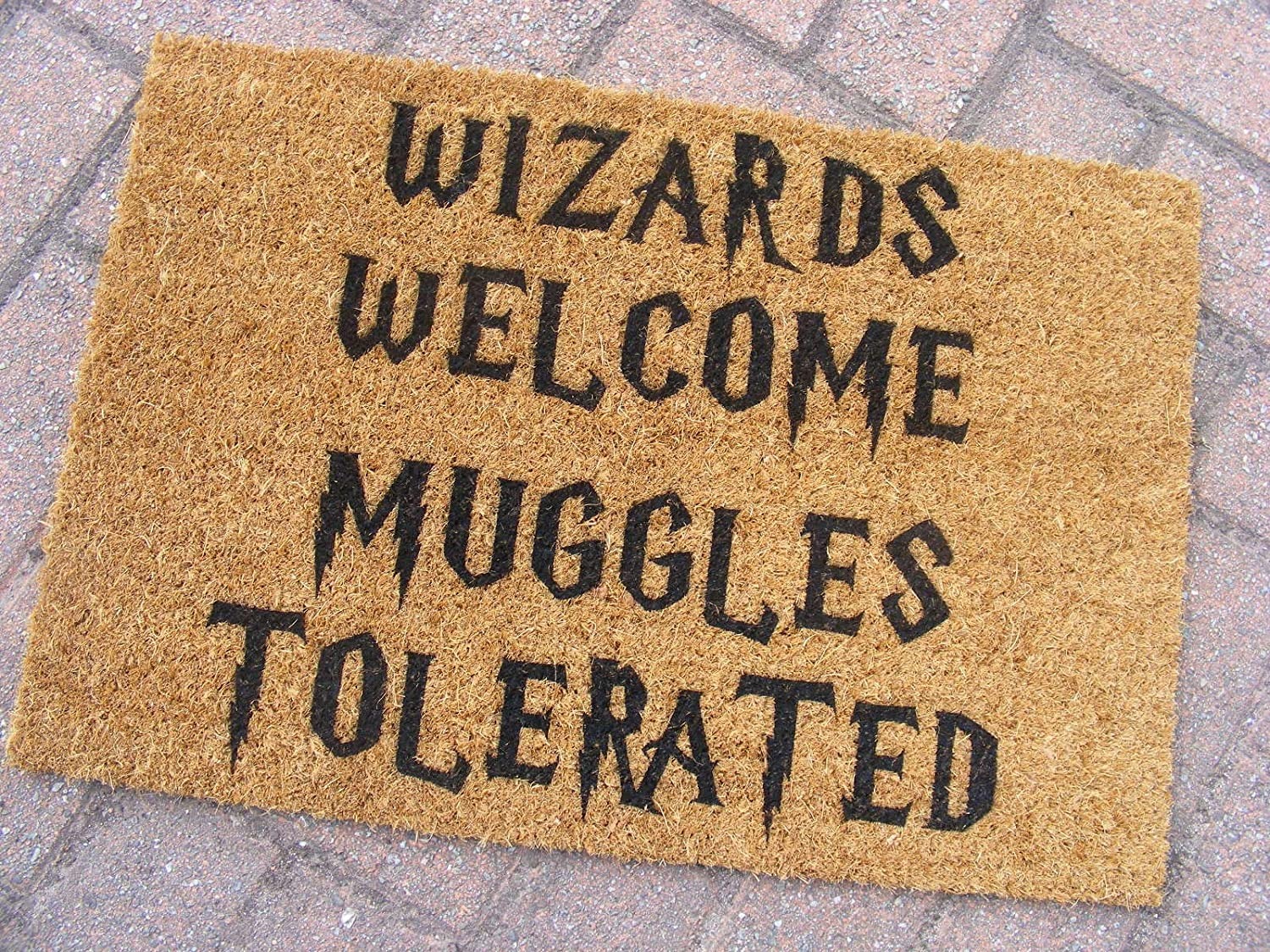 Wizards Welcome Muggles Tolerated Door Mat-Glasses Harry Potter Hogwarts