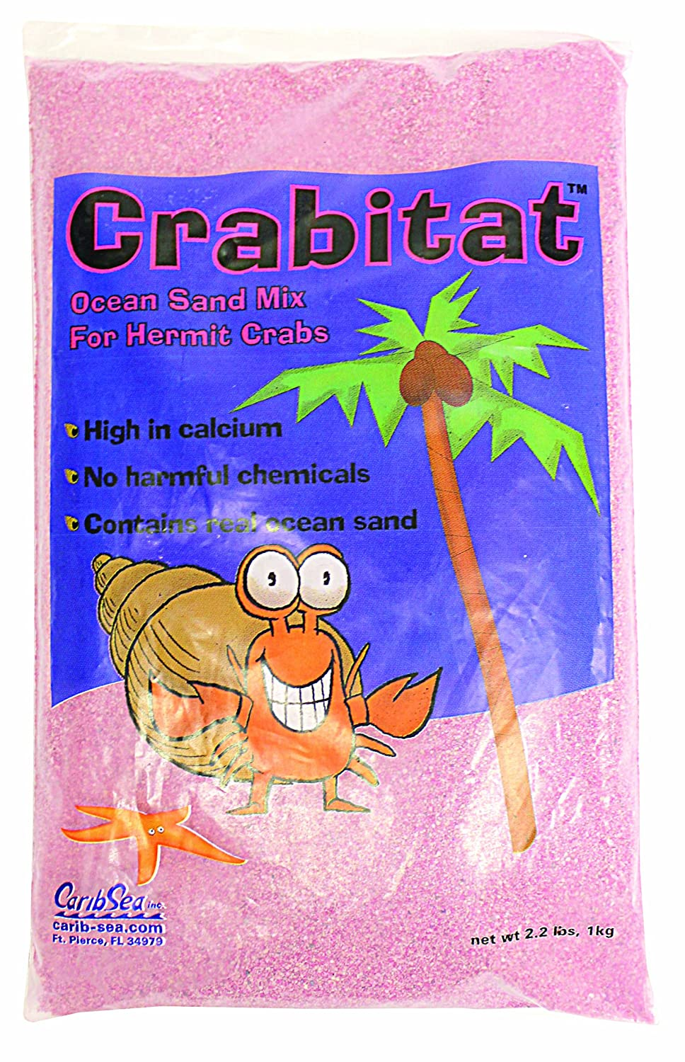 CaribSea Aquatics SCS00606 Crabitat Hermit Crab Sand, 2.2-Pound, Pink TopDawg Pet Supply 008479006066