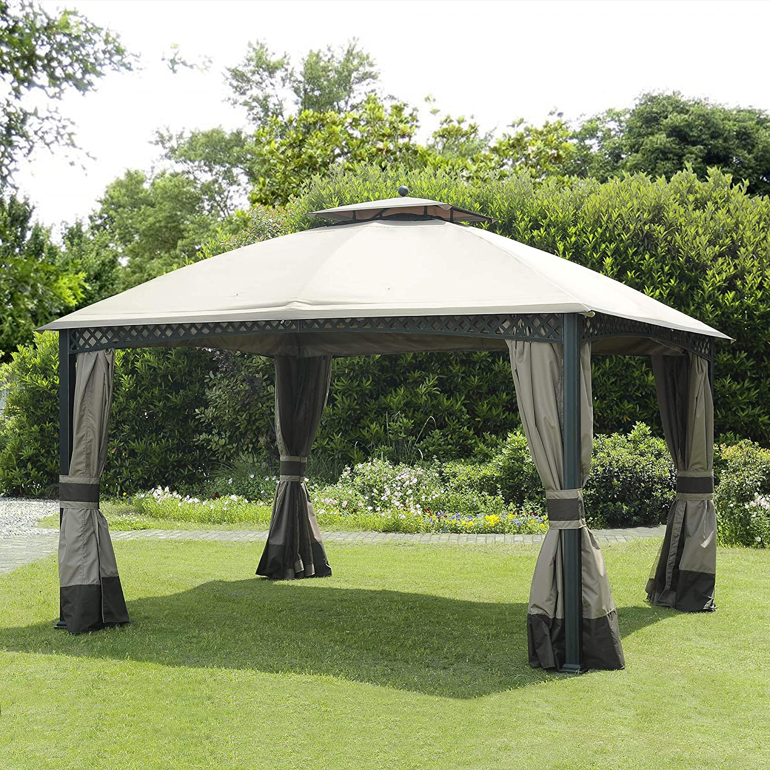 Sunjoy Replacement Canopy Set for 10×12 ft Windsor Gazebo- Canopy only