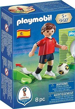 PLAYMOBIL- Jugador España Muñecos y Figuras, Multicolor, 4,5 x 14 ...