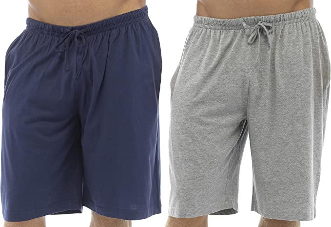 Tom Franks Twin Pack Cotton Jersey Lounge Shorts