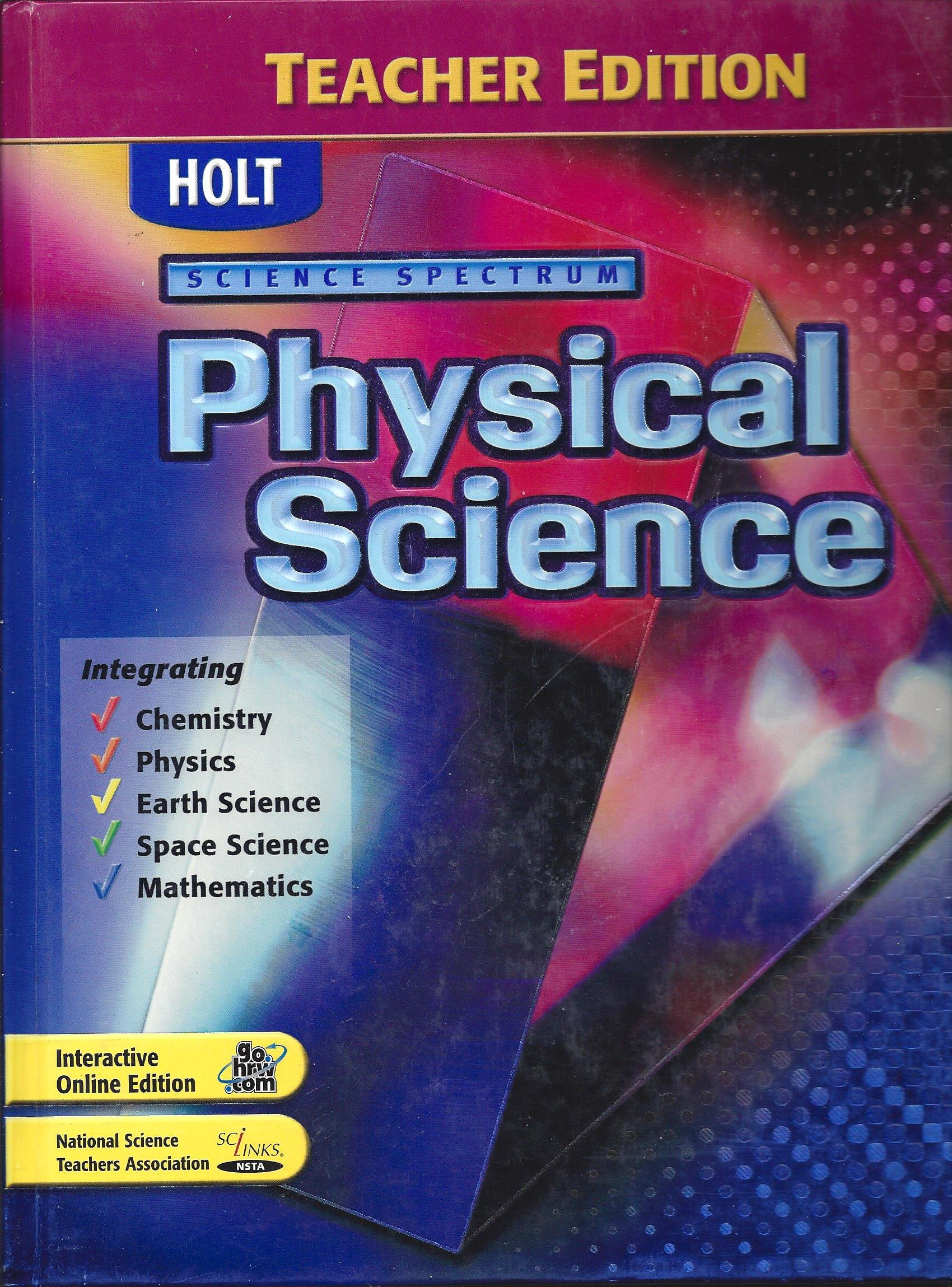 Worksheets Holt Science Spectrum Worksheets holt science spectrum physical teachers edition ken dobson 9780030664717 amazon com books