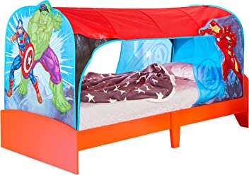 Marvel Avengers Kids Single Over Bed Fabric Tent by HelloHome -  Captain America, Hulk and Iron Man
