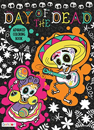 Bendon 41636 Advanced Coloring And Activity Book Day Of The Dead