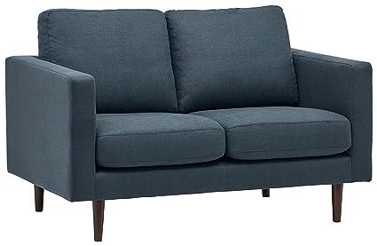 Rivet Revolve Mid-Century Modern Loveseat Sofa Couch, 56.3\