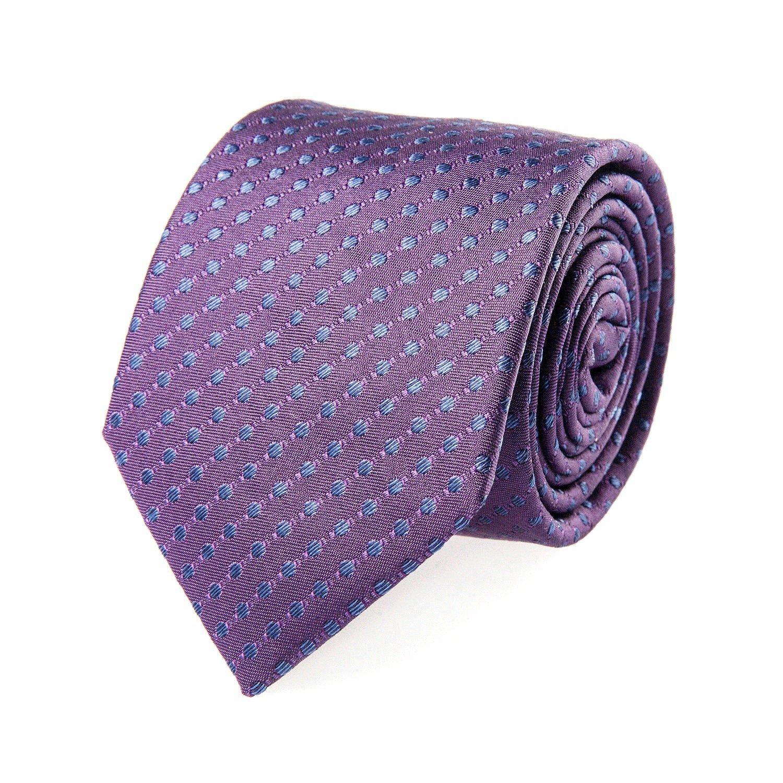 Strellson Corbata de seda azul Púrpura clásica Puntos 7 cm: Amazon ...
