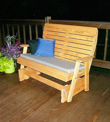 Bon Aspen Tree Interiors 4u0027 PORCH GLIDER Outdoor Patio Bench, 2 Person Wooden  Loveseat Patio