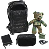 Tactical Baby Gear Daypack 3.0 Full Load Out Tactical Diaper Bag Backpack Set (Black Camo)