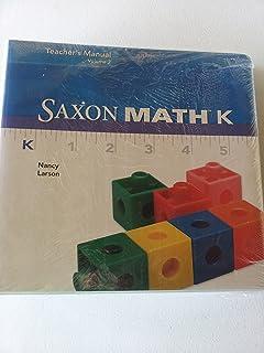 saxon math common core standards kindergarten