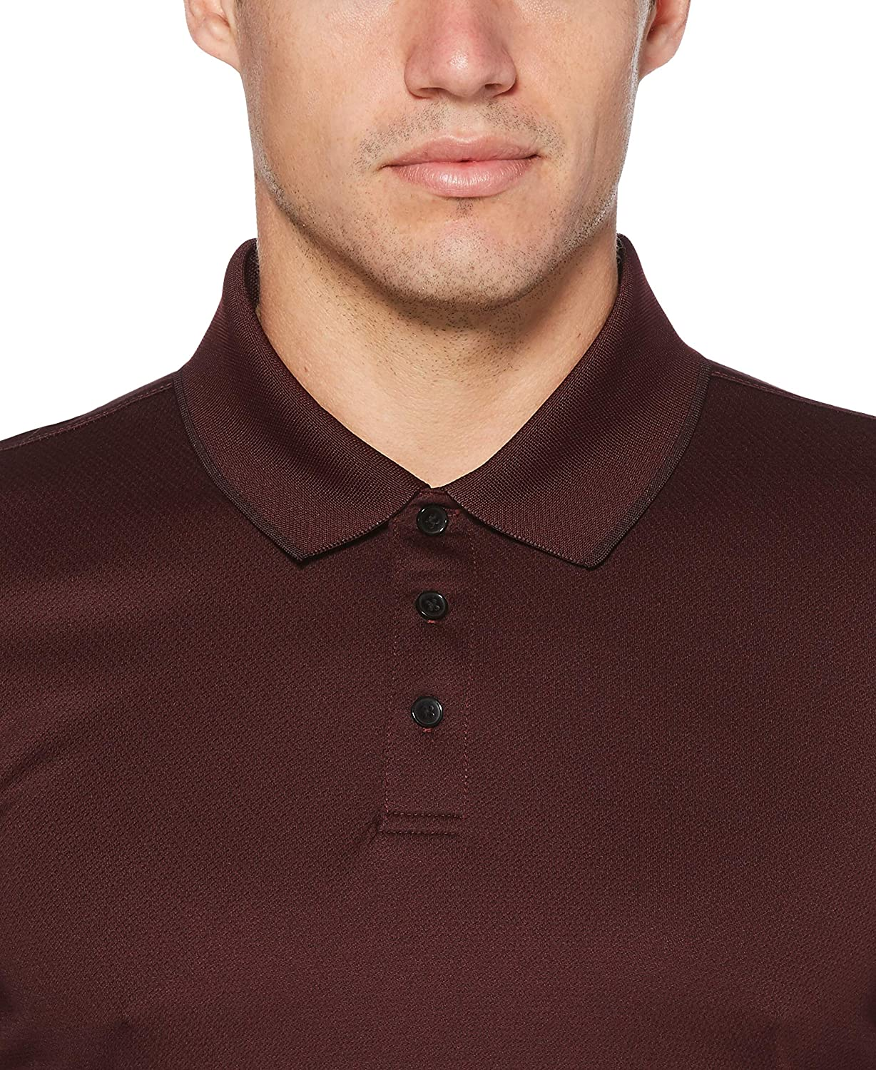 c607be65 Perry Ellis Men's 3 Button Long Sleeve Jacquard Polo at Amazon Men's  Clothing store: