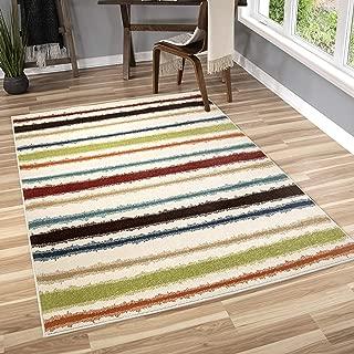 "product image for Orian Rugs Veranda Indoor/Outdoor Montreal Stripes Area Rug, 7'8"" x 10'10"", Multicolor"