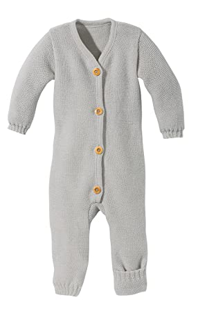 cd383f24a Amazon.com  Disana 100% Organic Merino Wool Knitted Overall Romper ...