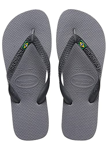 Havaianas Grey Brazil Flip Flops UK 6 7  Amazon.co.uk  Shoes   Bags cadea675481d