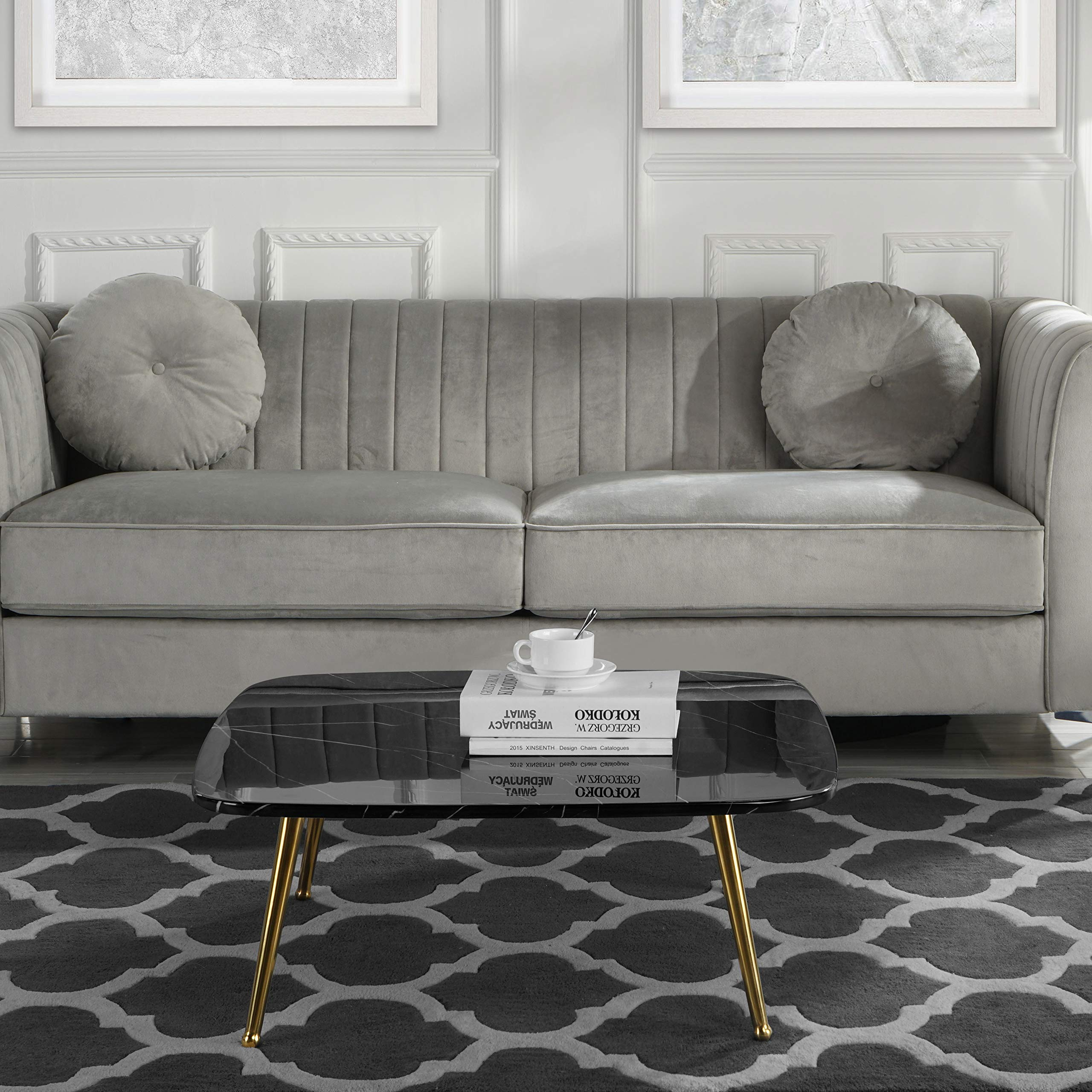 Cheap Mid Century Modern: CHEAP Modern Mid-Century Coffee Table With Marble Print