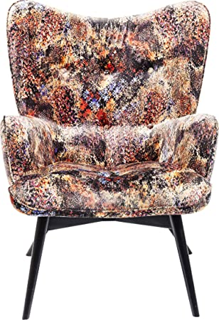 Kare Design Sessel Vicky Velvet Tropical Safari Samtiger