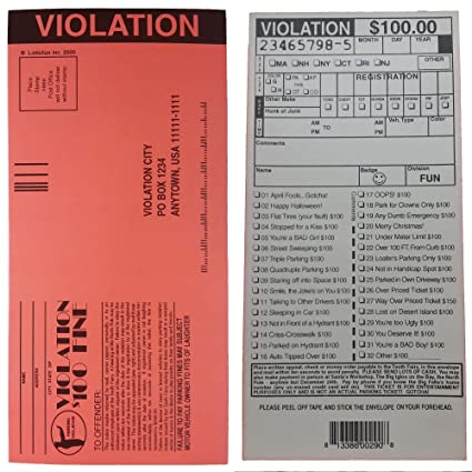 amazon com novelties wholesale fake parking tickets set of 100