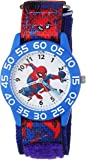MARVEL Boys Spider-Man Analog-Quartz Watch with Nylon Strap, Blue, 16 (Model: WMA000189)