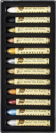 PACK OF 4 Sennelier Iridescent Oil Pastels aluminum 111