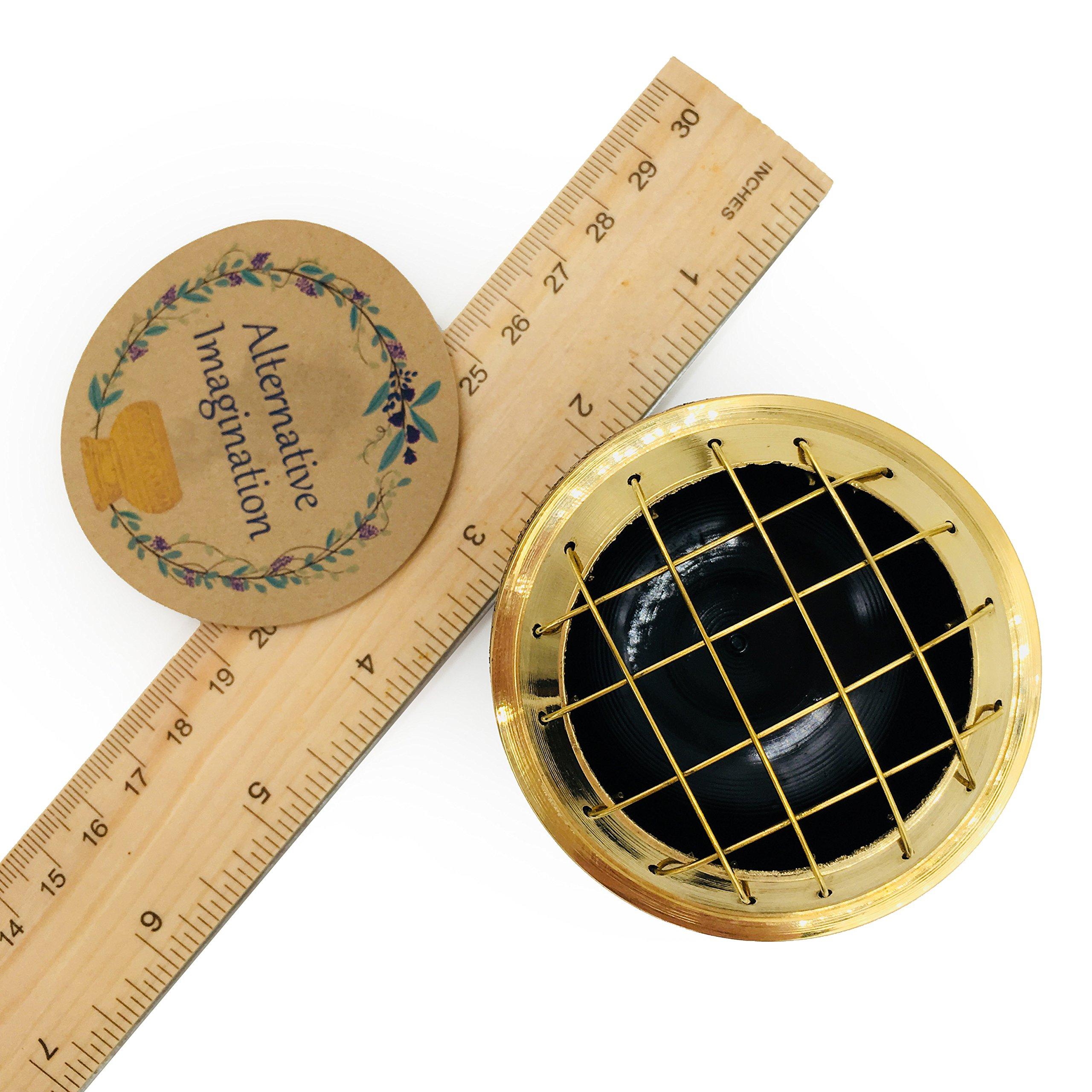 Alternative Imagination Premium Copal Burning Kit (with Tibetan Incense Burner or Brass Screen Burner) (Black Brass) by Alternative Imagination (Image #7)
