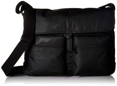 ff51939e95f8 Fossil Men s Buckner Messenger Black Travel Cross-Body Bag One Size