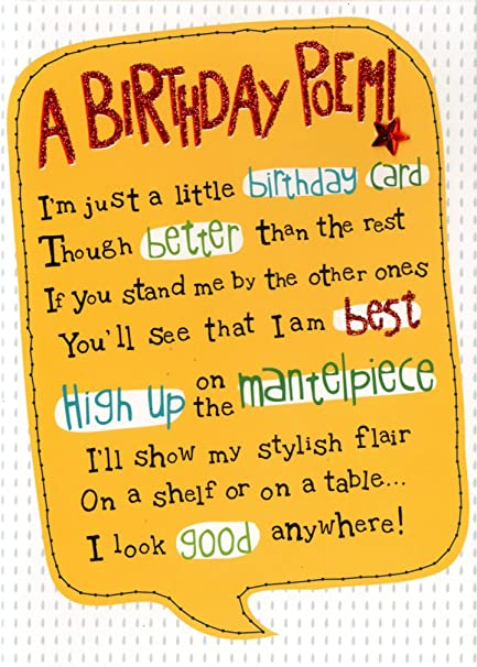 A Birthday Poem Greeting Card Second Nature Yours Truly Cards Amazon Co Uk Office Products