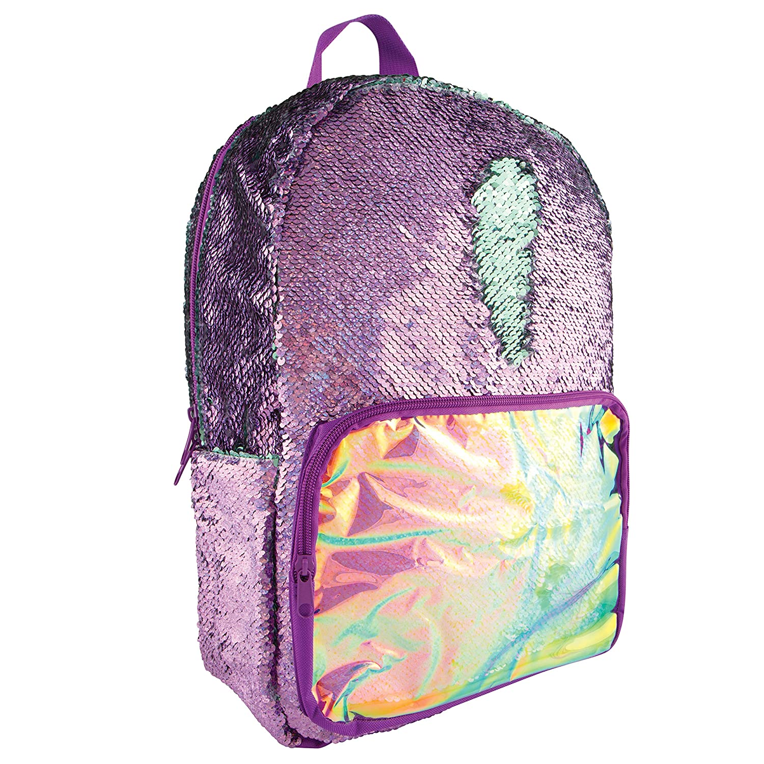 Style.Lab Fashion Angels Magic Sequin Backpack - Purple Holo/ Seafoam 77092