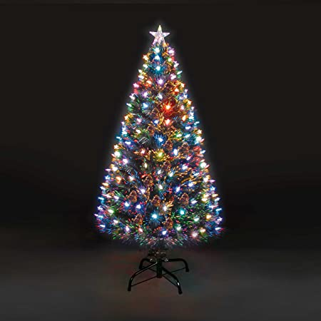 b57ae2a1891b6 Image Unavailable. Image not available for. Colour  Snowtime 6ft Superstar Green  Fibre Optic   LED Christmas Tree