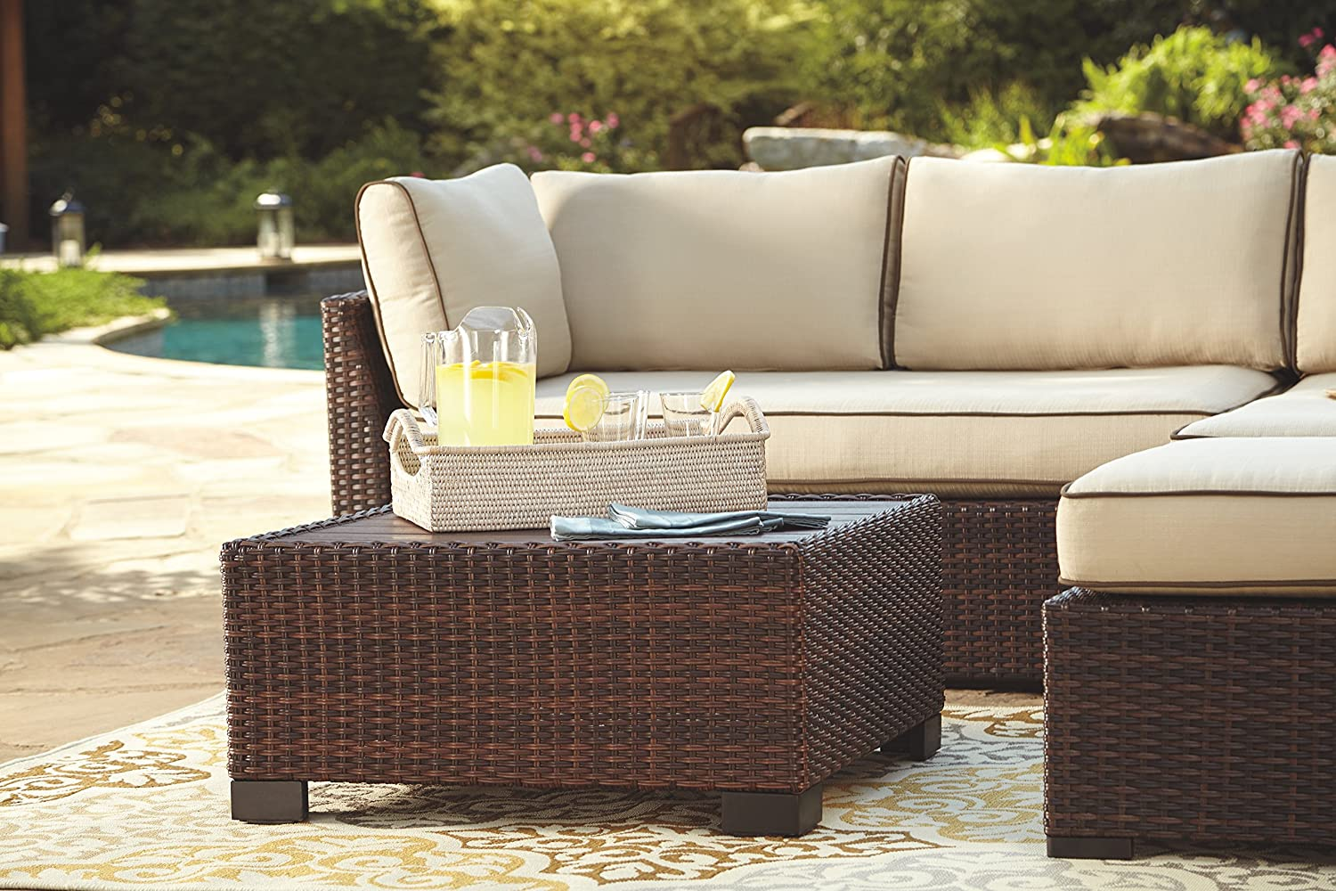 Amazon Com Ashley Furniture Signature Design Loughran Outdoor