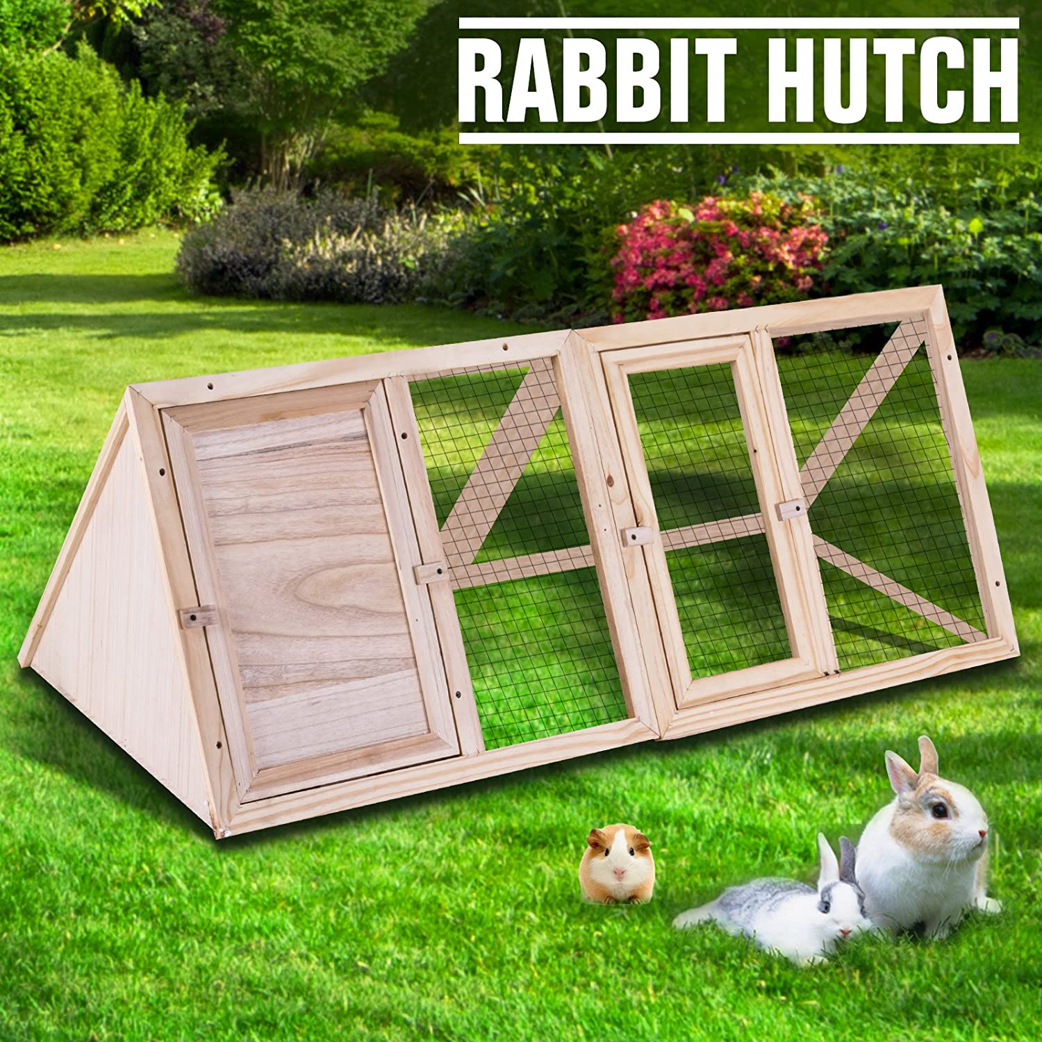 sale hayneedle outdoor rabbit handmade hutch hutches pin george with boomer for from tiered run com