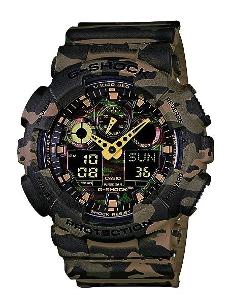 Casio GA-100CM-5A G-Shock MultiFunction Analog Digital Sports Watch -  Camouflage  Casio  Amazon.com.mx  Relojes d13bd80f7d37