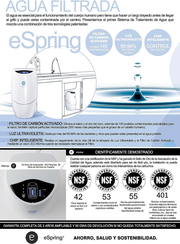 Purificacion de Agua eSpring™ con Grifo Auxiliar: Amazon.es ...