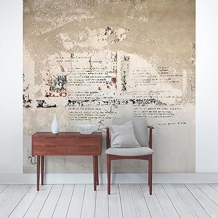 APALIS Concrete Look Non-Woven Wallpaper Old Concrete Wall Bertolt Brecht Versen 108869 Photo Wallpaper & APALIS Concrete Look Non-Woven Wallpaper Old Concrete Wall Bertolt ...