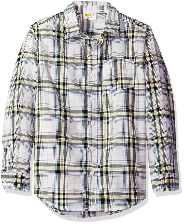 Crazy 8 Boys' Big Poplin Button Down Shirt