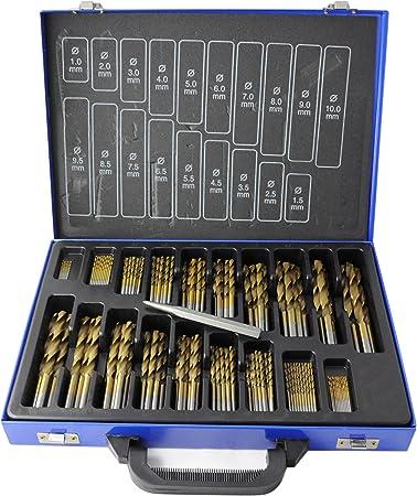 Spiralbohrer DIN 338  8,5 mm HSS-TIN beschichtet 10 Stück