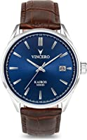 Vincero Luxury Men's Kairos Wrist Watch - Top Grain Italian Leather Watch Band - 42mm Analog Watch - Japanese Quartz...