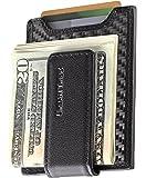 Secure, Slim Carbon Fiber Money Clip Wallet, RFID EDC Card Holder by Urban Tribe