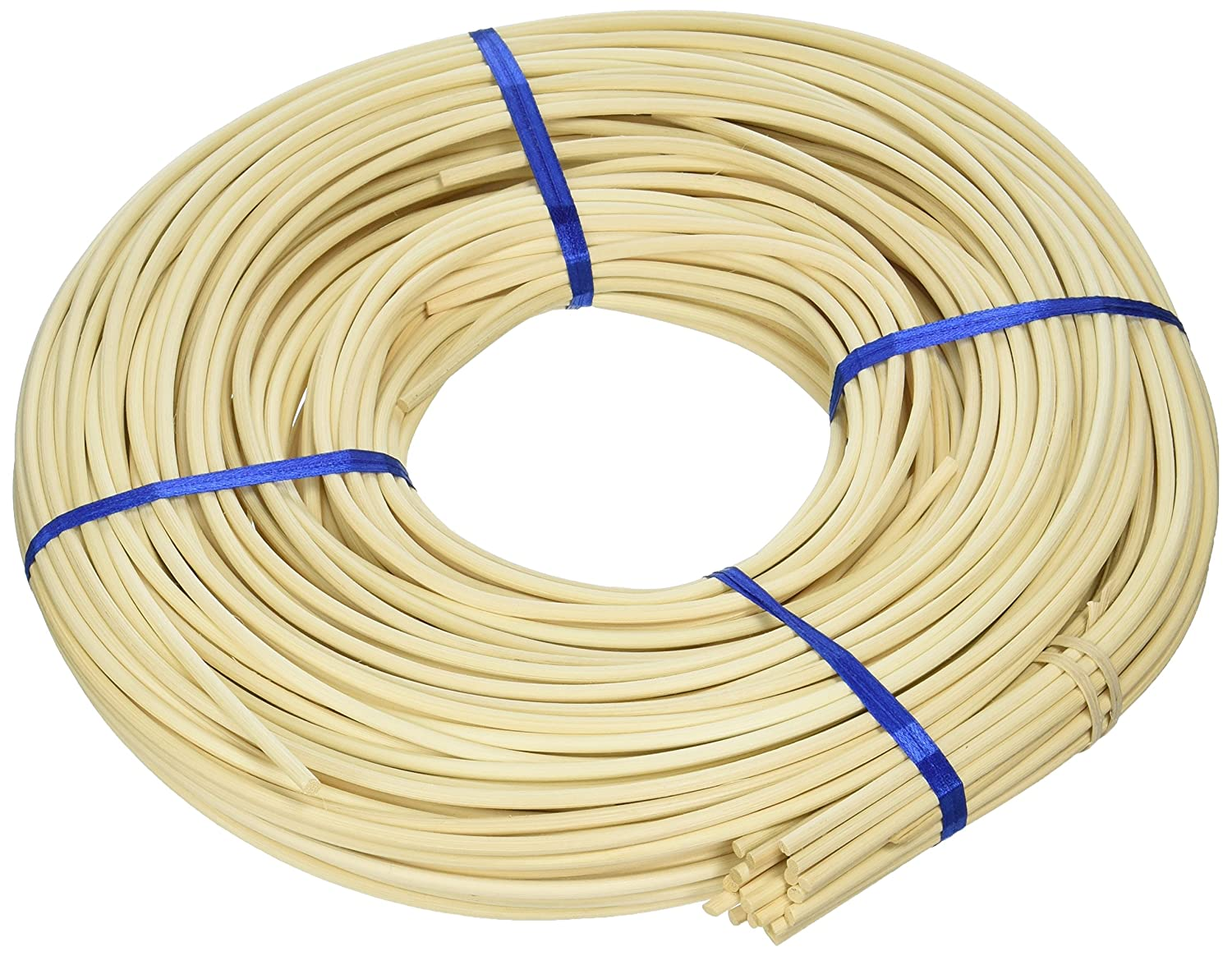 Commonwealth Basket Round Reed #6 4-1/4, 4-1/2mm 1-Pound Coil, Approximately, 160-Feet 6RR