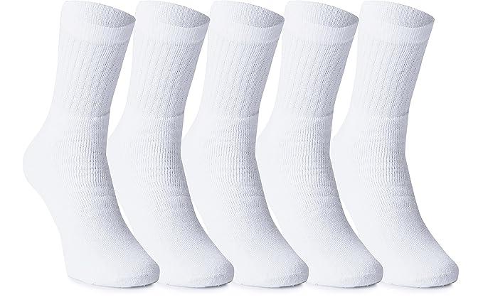 Ladeheid Calcetines para Hombre LAWK17100 (Blanco (5-Pack), EU 39/