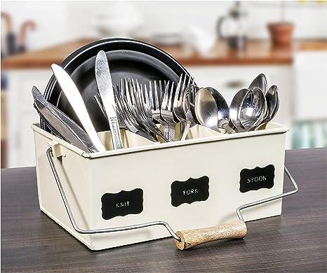 Utensil Holder Flatware Cutlery Caddy Kitchen Tool Accessories Storage Organizer