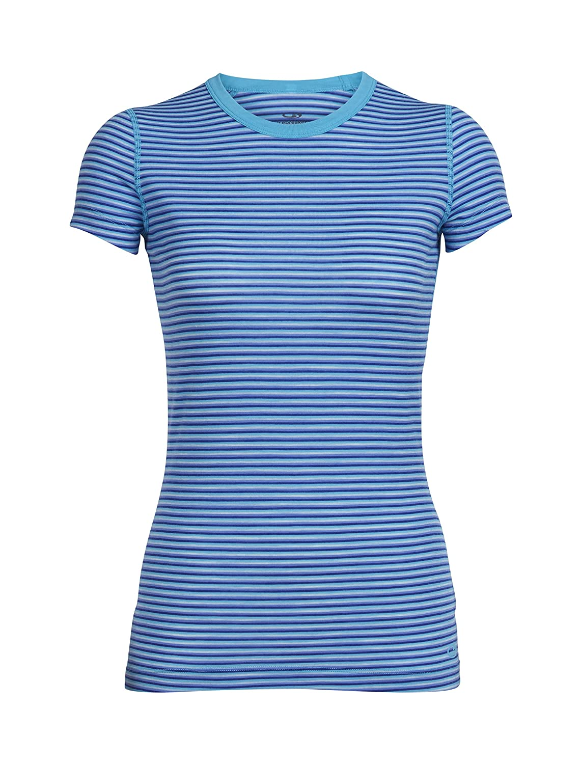 Icebreaker Sprite Crewe Stripe Women's Short Sleeve T-Shirt - AW16 103022403S