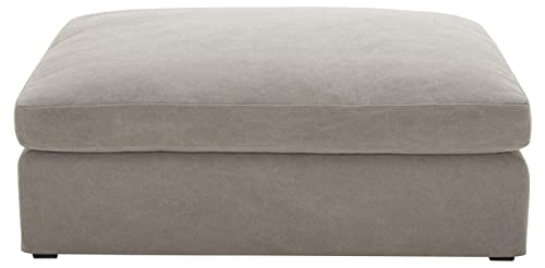 Stone Beam Faraday Down-Filled Ottoman, 33 W, Light Grey