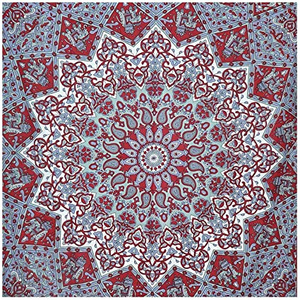 f3cff1430f Amazon.com  Popular Twin Star Hippie Mandala Bohemian Psychedelic ...