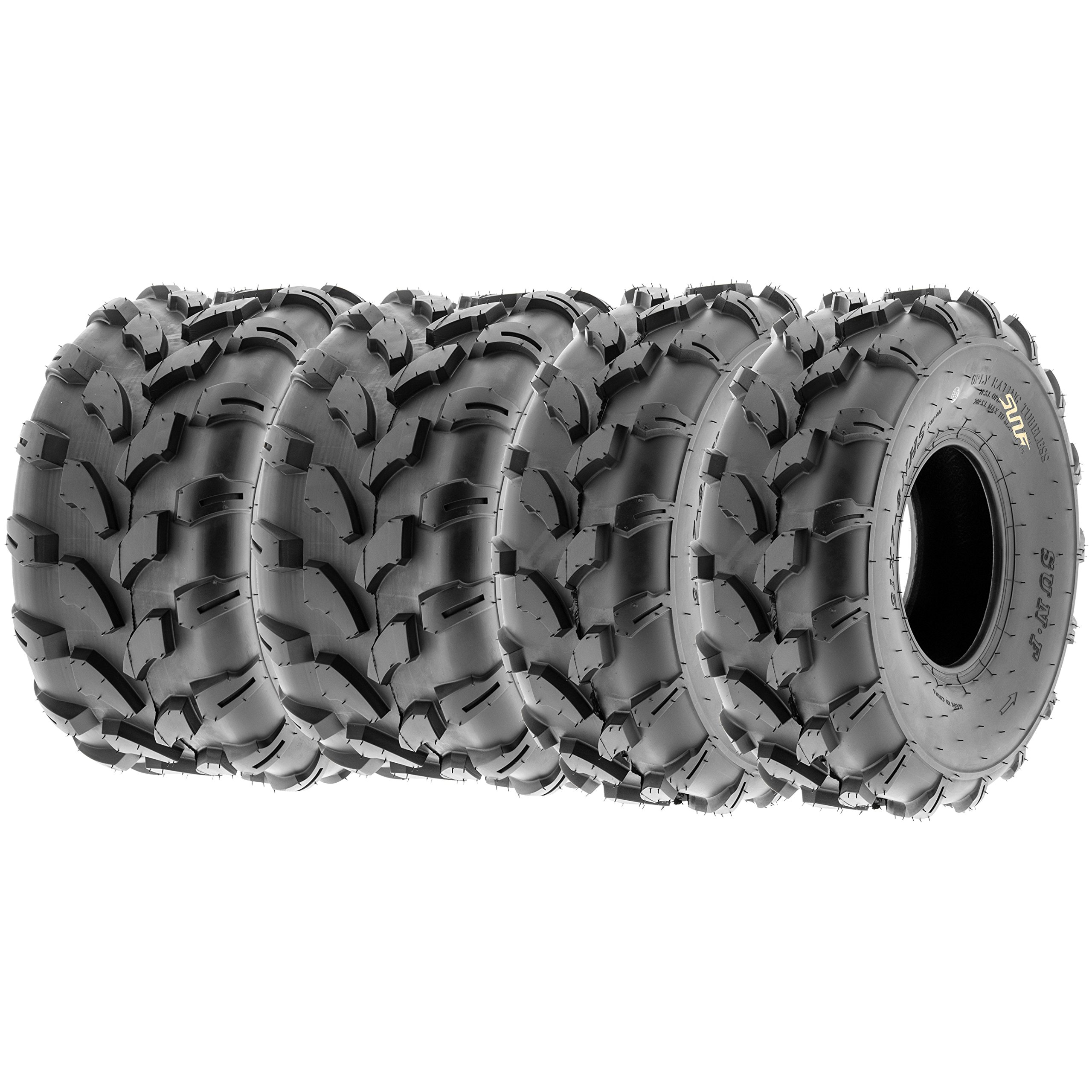 SunF Quad ATV Sport Tires 19x7-8 & 18x9.5-8 4 PR A003 (Full set of 4) by SunF