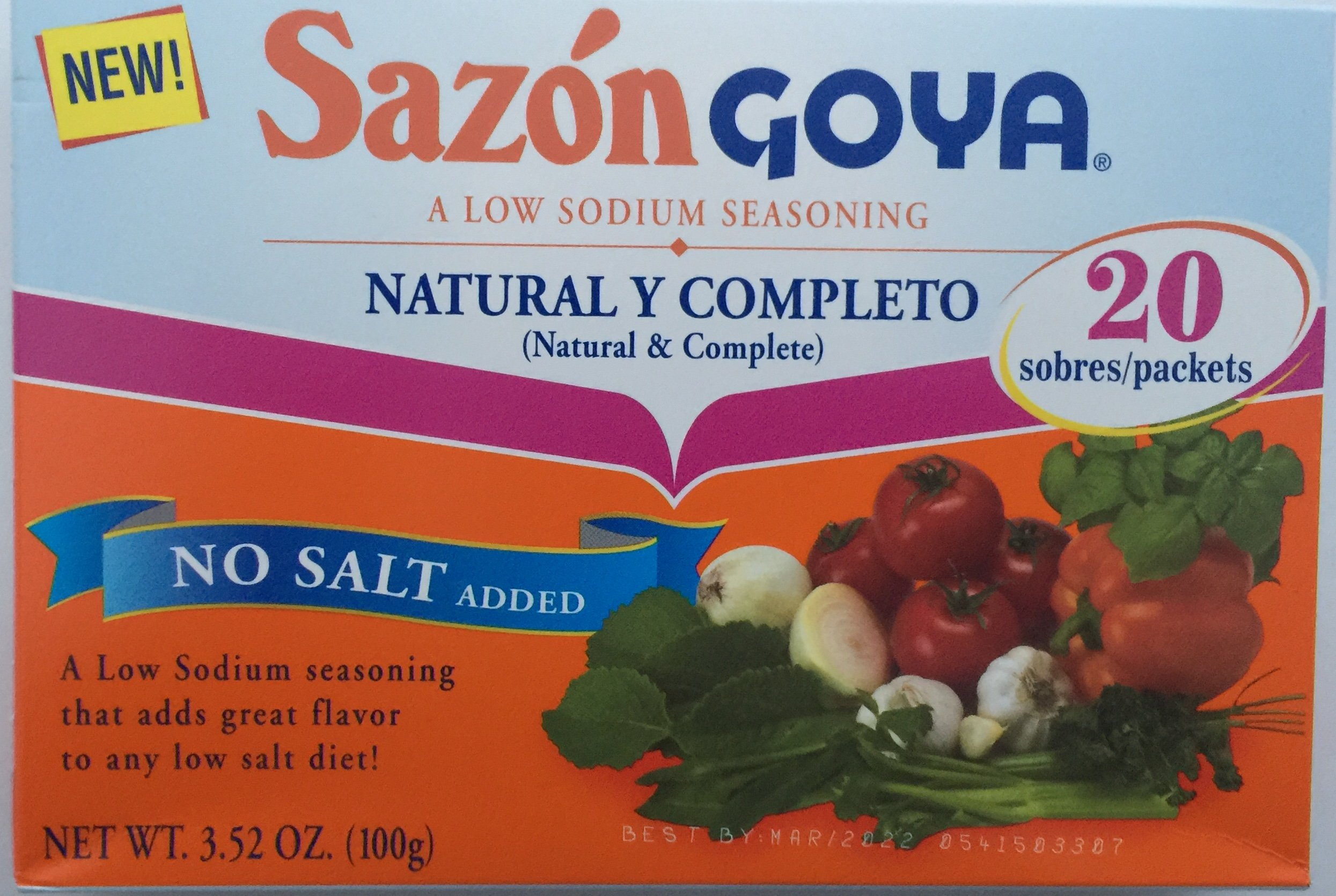 Goya Foods Sazon Natural & Complete, 3.52 oz by Goya