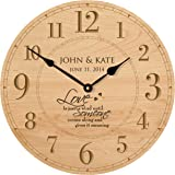 personalized wedding anniversary gifts modern decorative wall clocks housewarming gifts for couple 12x 12